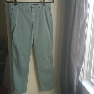 GAP Girlfriend Chino's Celery Green Size 2